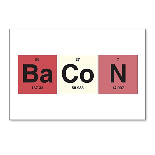 Postcards (8 Pack) Bacon Periodic Table of - Bacon Postcard