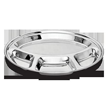 King International Stainless Steel 4 Compartment Plate (Metallics)
