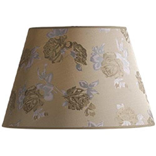 Textured Barrel - Laura Ashley SLB35116P Carla 16-Inch Floral Barrel Shade, Beige/Bisque