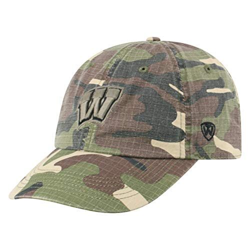 (Top of the World Wisconsin Badgers Men's Camo Hat Icon, Camo, Adjustable)