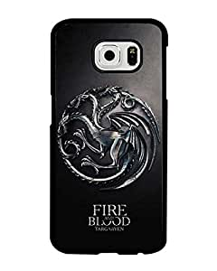 Samsung Galaxy S6 Game of Thrones Logo Funda Case, TV Series Cartoon Anime Theme [Shock Absorbent] Hardshell Funda Case for Galaxy S6