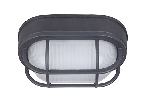 CORAMDEO LED Bulkhead Light Worked as Wall Lantern Wall Sconce or Flush Mount Ceiling Light, 6.2W Replace 60W, 430 Lumen, Water-Proof, ETL and Energy Star Rated ()