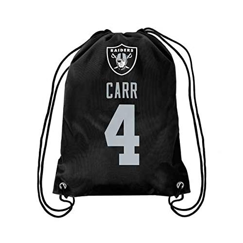 Oakland Raiders Carr D. #4 Player Drawstring Backpack