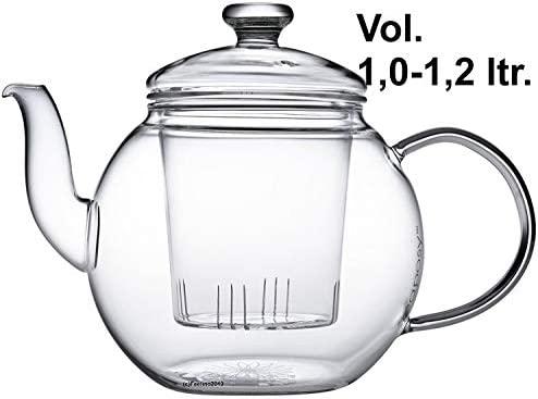 Teaposy Harvest - Tetera con Filtro (1,2 L, Vidrio de borosilicato, Resistente al Calor y al microondas)