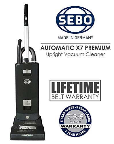 SEBO Automatic X7 Premium Boost Upright Vacuum Cleaner | 91543AM Graphite