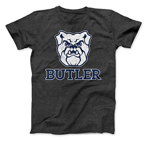 Nudge Printing Butler University Bulldogs Premium Charcoal T-Shirt (Large)