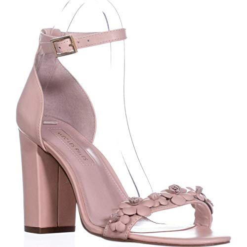 Strap Peach Les Special Michele Occasion Open Filles Pale Ankle Toe Leather Womens Avec Tvpwqp