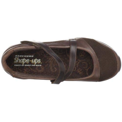 Shape 24866 Braun donna XW ups Toff Ballerine Marrone Hyperactive Skechers ZUq14d1