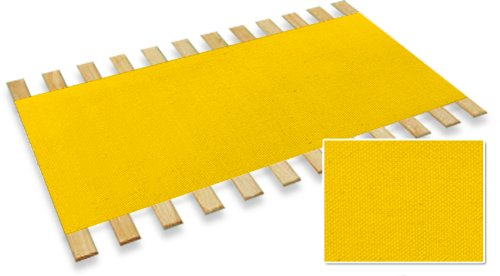 Full Size Custom Bed Slats With Yellow Canvas Material -Help Support Your Box Spring and (Golden Oak Futon Frame)