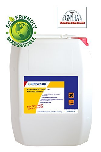 Commercial Industrial Grade Dishwasher Detergent 5 Gallon Pail Lybramatic [Ready-to-Use]