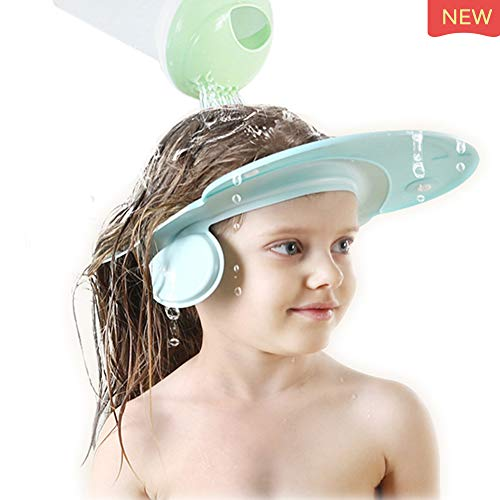 Baby Shampoo Shower Cap Hat,Adjustable NEW Designed Soft Silicone for Baby Infants and children Bathing Protect Eyes Ears(Recommended Over 18-month-old)