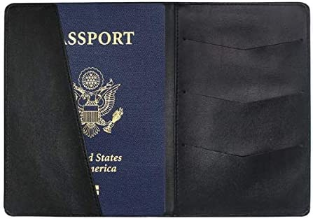 City Night Aerial View Leather Passport Holder Cover Case Travel One Pocket