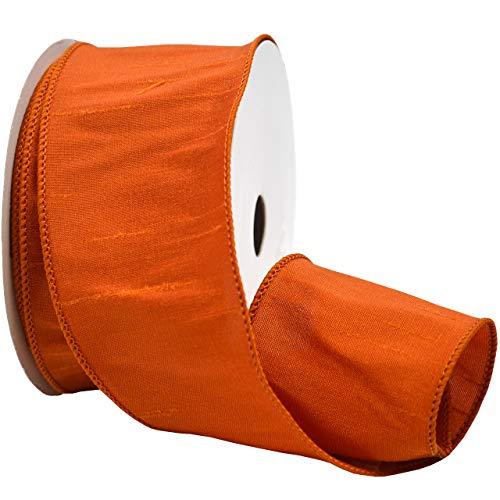 Morex Ribbon 3586 Emelia Ribbon, 2.5 inch by 10 Yards, Orange