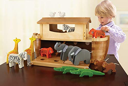 EverEarth EE33727 ''Giant Ark'' Playset with 14 Animals/Bamboo/Wood by EverEarth (Image #3)