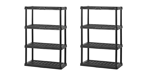 Black 36 Width x 56 Height x 18 Depth Sandusky Lee PS361856-4B Plastic Shelving