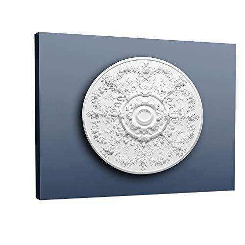 (ORAC R64 Ceiling Rose Rosette Medallion Centre quality polyurethane decorative flower white   95 cm = 37 inch diameter)