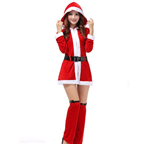 [Bolayu Women Christmas Party Dress Cosplay Suit Ladies Sexy Santa Costume] (Roman Goddess Costume Pattern)