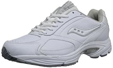 Saucony Men's Grid Omni Walking Shoe,White/Silver,7 M