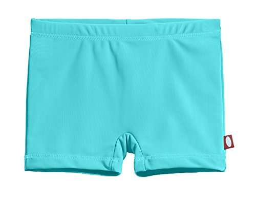 City Threads Big Girls' Swimming Suit Bottom Boy Short, Turquoise MS, 7
