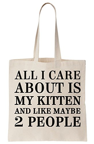 All I My People Maybe Is And Kitten About Like Bag Tote 2 Care Canvas UxwAqrHdU