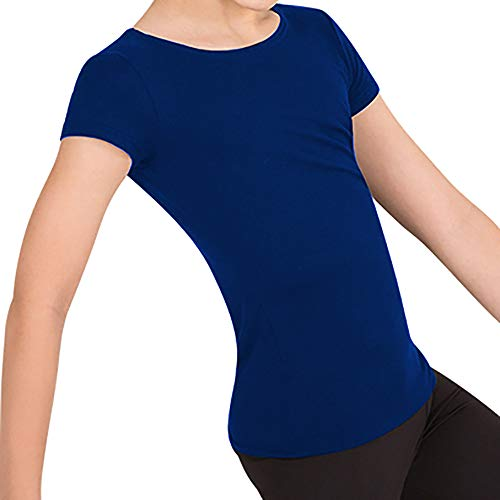 "Body Wrappers Pullover - Body Wrappers Boy's Ballet Dancewear Short Sleeve ""Snug Fit"" Pullover (Dark Royal Blue, 11-12) - B400"
