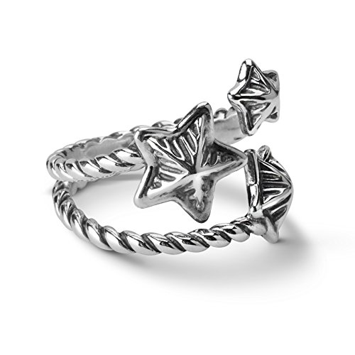 Sterling Silver Three Stars - American West Sterling Silver Three Star Ring,  size 8