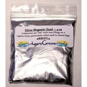 Silver Magnetic Sand (Lodestone Food) 4oz by Sage Cauldron