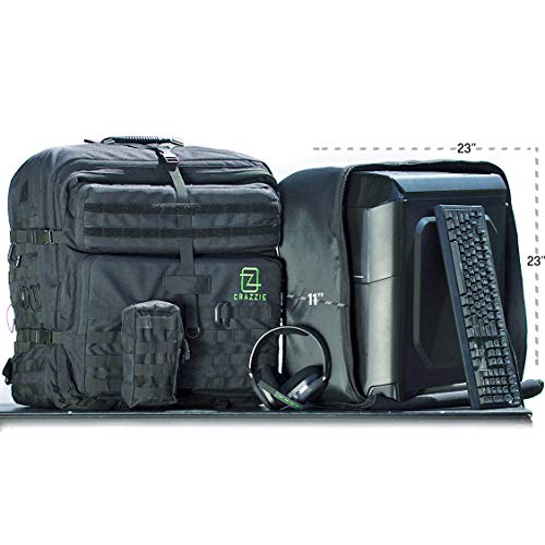 GTR Backpack - Carry Your PC Tower, Gaming Gear, Consoles & More - Great for LANs and BYOCs (Best Console Sized Gaming Pc)