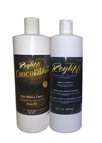 keratin treatment chocolate 32 oz with argan oil 32 oz purifying champoo