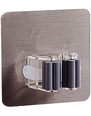 Väggmonterad mopphållare Pensel Broom Hängare Storage Rack Badrum Arrangör Hängande rörkrokar