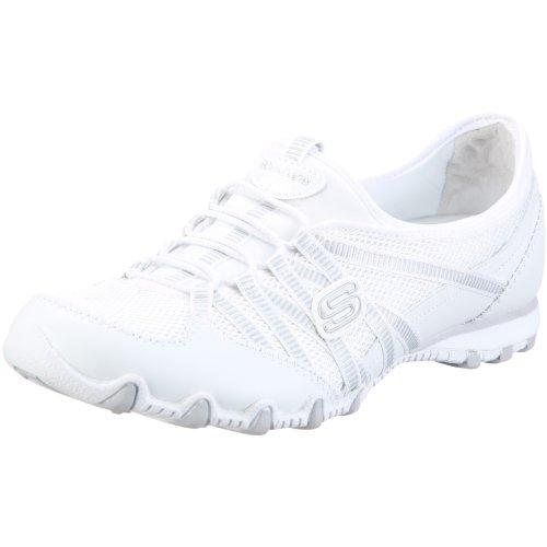 Skechers Bikers Hot-Ticket Ballerina - Zapatillas de deporte para mujer Blanco