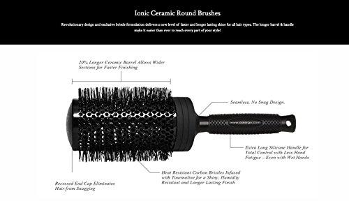 """Price comparison product image Ergo Professional Round Ionic Ceramic Brush 65mm (3 1/2"""") New in Box"""