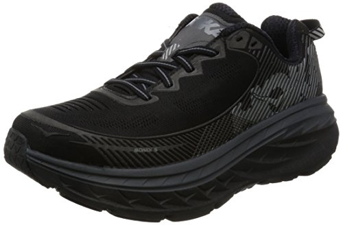 5 Mens Running Shoes (Hoka One One Men's Bondi 5 Black/Anthracite Running Shoe Size 10.5)
