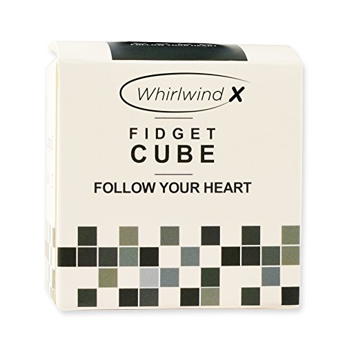 Whirlwind X Stress Relief Fidget Cube, Gray Black and Black, Set of 2 - 2
