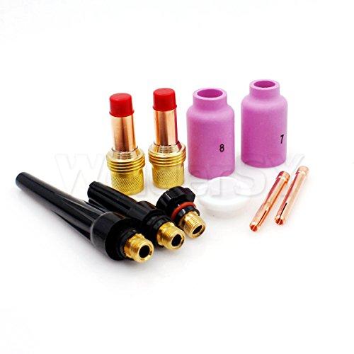 1/2' Diameter Lens - 10pcs 45V27 Tig Welding Gas Lens Collet Body Kit 1/8