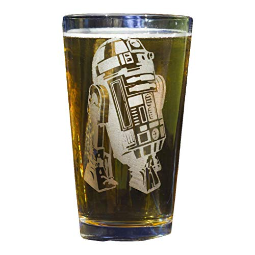 R2-D2 Star Wars Collectible Pint Glass - Heat Treated Engraved Barware