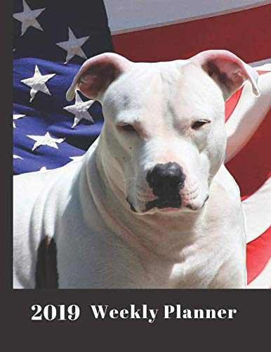 Pit Bull Dog Planner: 2019 Large Weekly Organizer Diary with Goal Setting & Gratitude Sections (Positive Life Planner)