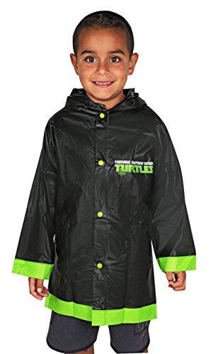 (Nickelodeon Little Boys Raincoat Rain Slickers (Small 2/3, Ninja Turtle Black))