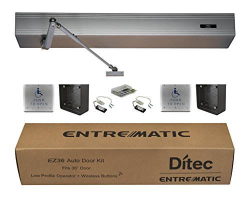 Ditec W9-205 EZ36 Auto Door Kit Low Energy Operator, Metal by Ditec