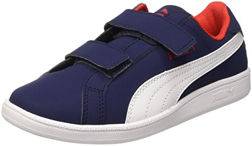Puma Smash Fun Buck PE Sneaker V, Blanco/Peacoat, 11