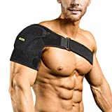 Compression Shoulder Brace Shoulder Support Sleeve for Injury Prevention, Dislocated AC Joint, Frozen Shoulder Pain, Arthritic Shoulders, Unisex, Fits Both Left Right Shoulder