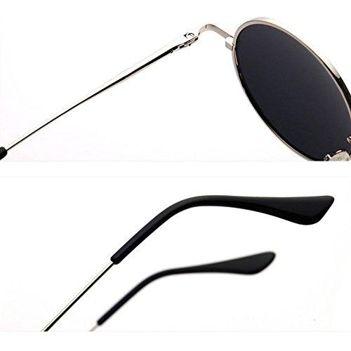 de hombres de del de conductor MX la de 9cm Tamaño de del sol 13 los Gafas Gafas reflexivas personalidad redondos de redondo la vendimia de marco conducción 9x13 A sol D Gafas sol Color ngxzPTIqxS
