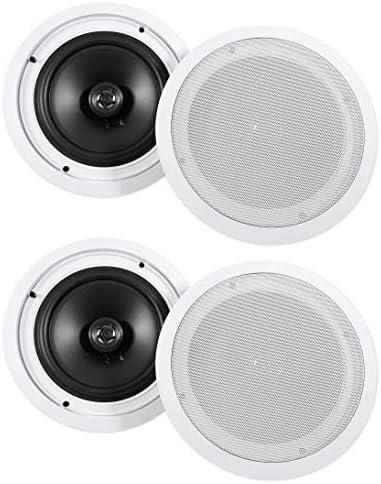 (4) Rockville HC85 8″ Inch 700 Watt In-Ceiling House Theater Audio system 8 Ohm