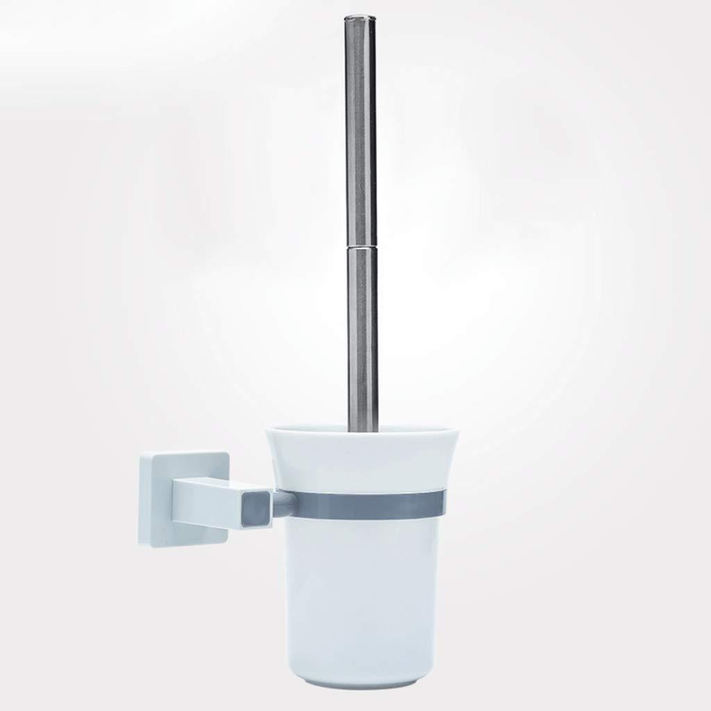 YXN Toilet Brush Holder Stainless Steel Long Handle Cleaning Kit Bathroom Source ABS Brush Cup Toilet Brush Holder H32 cm