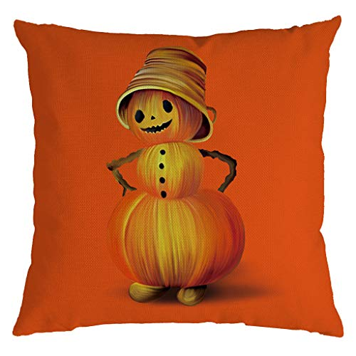 MoonHome Pillow Covers Autumn Harvest Season Throw Pillow Covers Cotton Linen Burlap Fall Pumpkin Leaves Throw Pillow Case Outdoor Cushion Cover Halloween Thanksgiving Decorative Rectangular