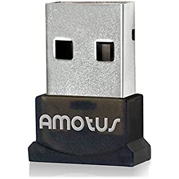 Bluetooth Adapter, Amotus USB Bluetooth 4.0 + EDR Wireless Micro Adapter [Low Energy] USB Dongle for PC& Laptop with Windows 10/8.1/8/7/Vista