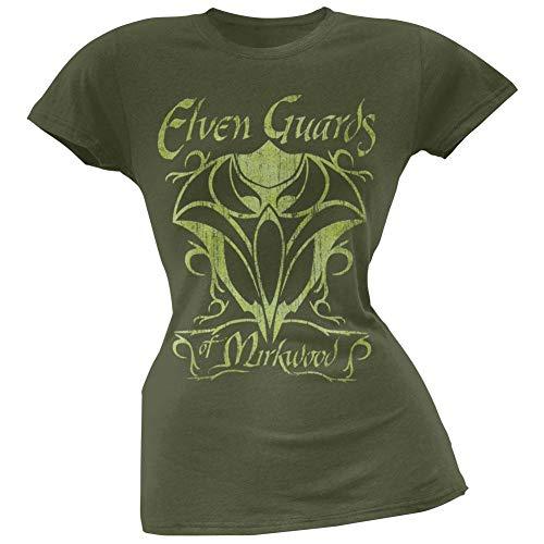 Old Glory The Hobbit - Guards of Mirkwood Juniors T-Shirt Medium Green