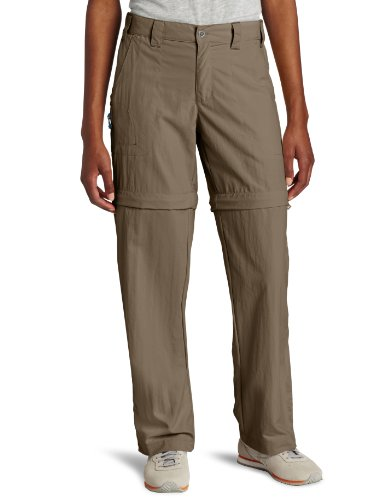 White Sierra Womens Sierra Point 29-Inch Inseam Convertible Pant X-Small Bark