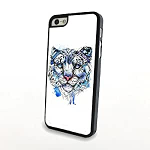 Generic Blue Splash Leopard Portrait Plastic Phone Case for iPhone 5/5s Hard Cover Matte Shell Carrying Protector,(White)