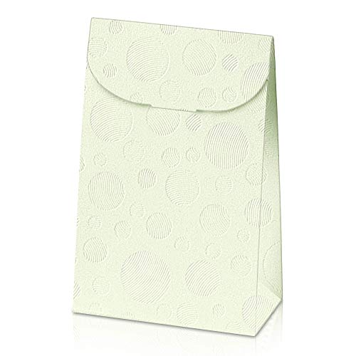 JGB Online Retail White Gift Boxes Set of 6, 9 x 2.6 x 6.3 inches, Cardboard Gift Boxes with Lids and Handle for Gifts and Many Other Occasions